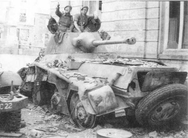 British soldiers on the knocked out Sd.Kfz 234/2. | This ver… | Flickr