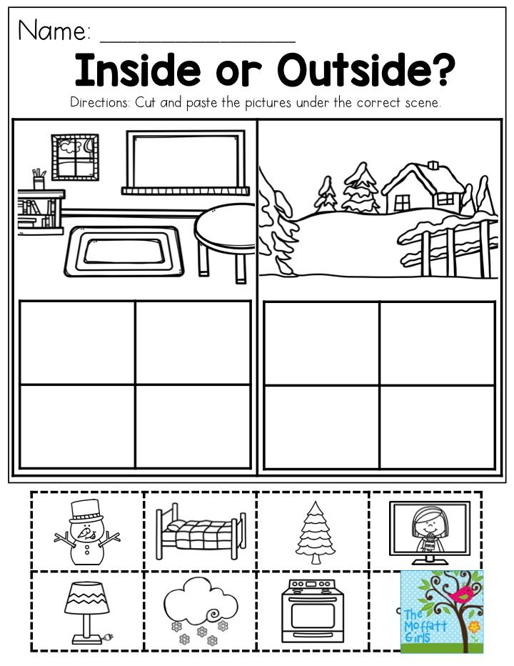 Inside Or Outside? This Activity Helps Children Categorize. So Much FUN!  Preschool Learning Activities, English Activities For Kids, Preschool  Worksheets