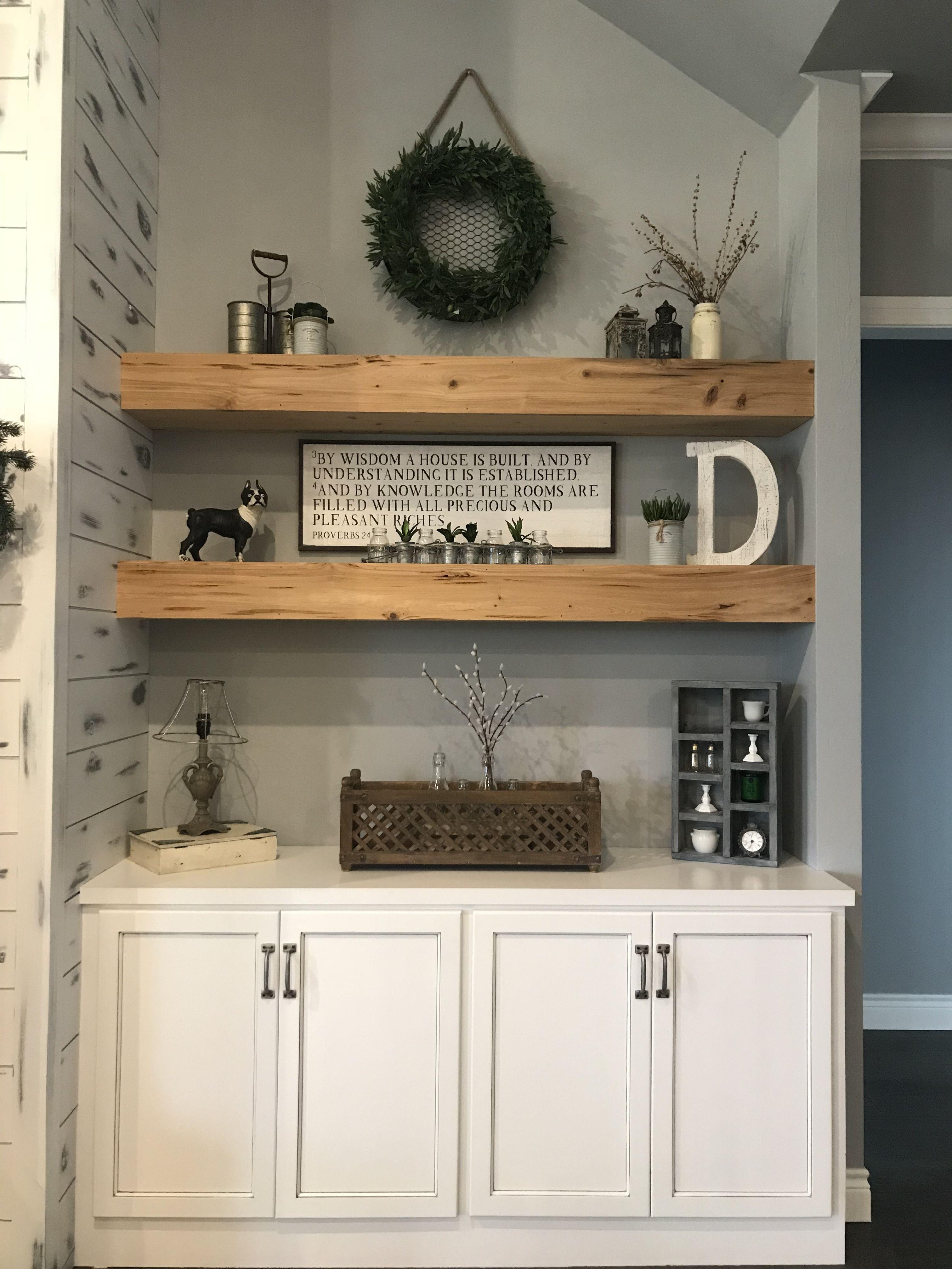 Modern Farmhouse Living Room Shelvingdesign by Nikki
