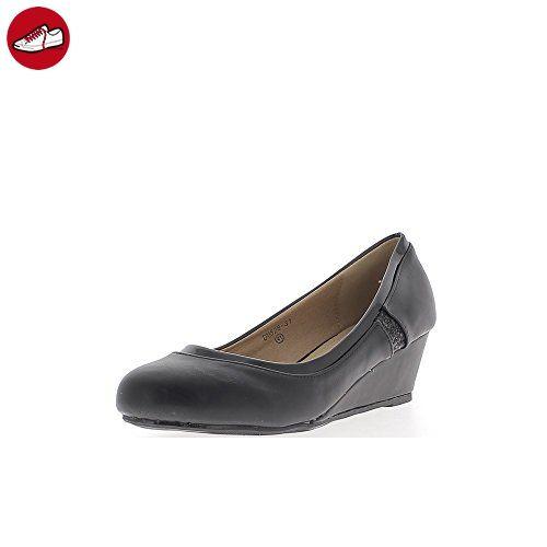 afis shoe-fashion 41548-104 Damen Schuhe Premium Qualität Pumps Braun (dunkelbraun) [EU 36.0] 0ILX0x9NB