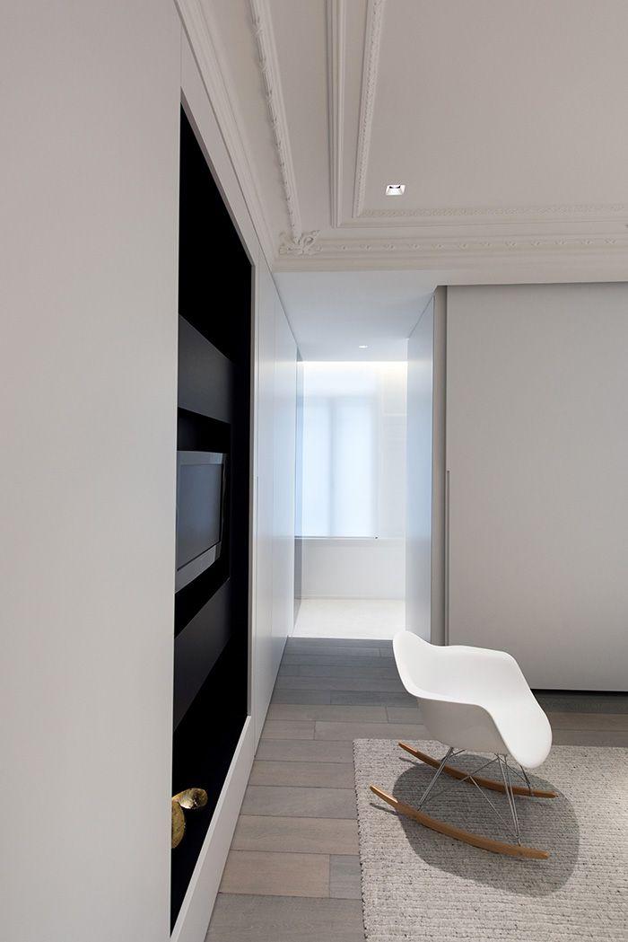 Maison Contemporaine Design Blanc Interieur Moderne Salon