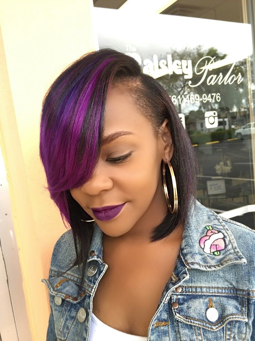 Quick weave bob deep side part hairs style pinterest quick