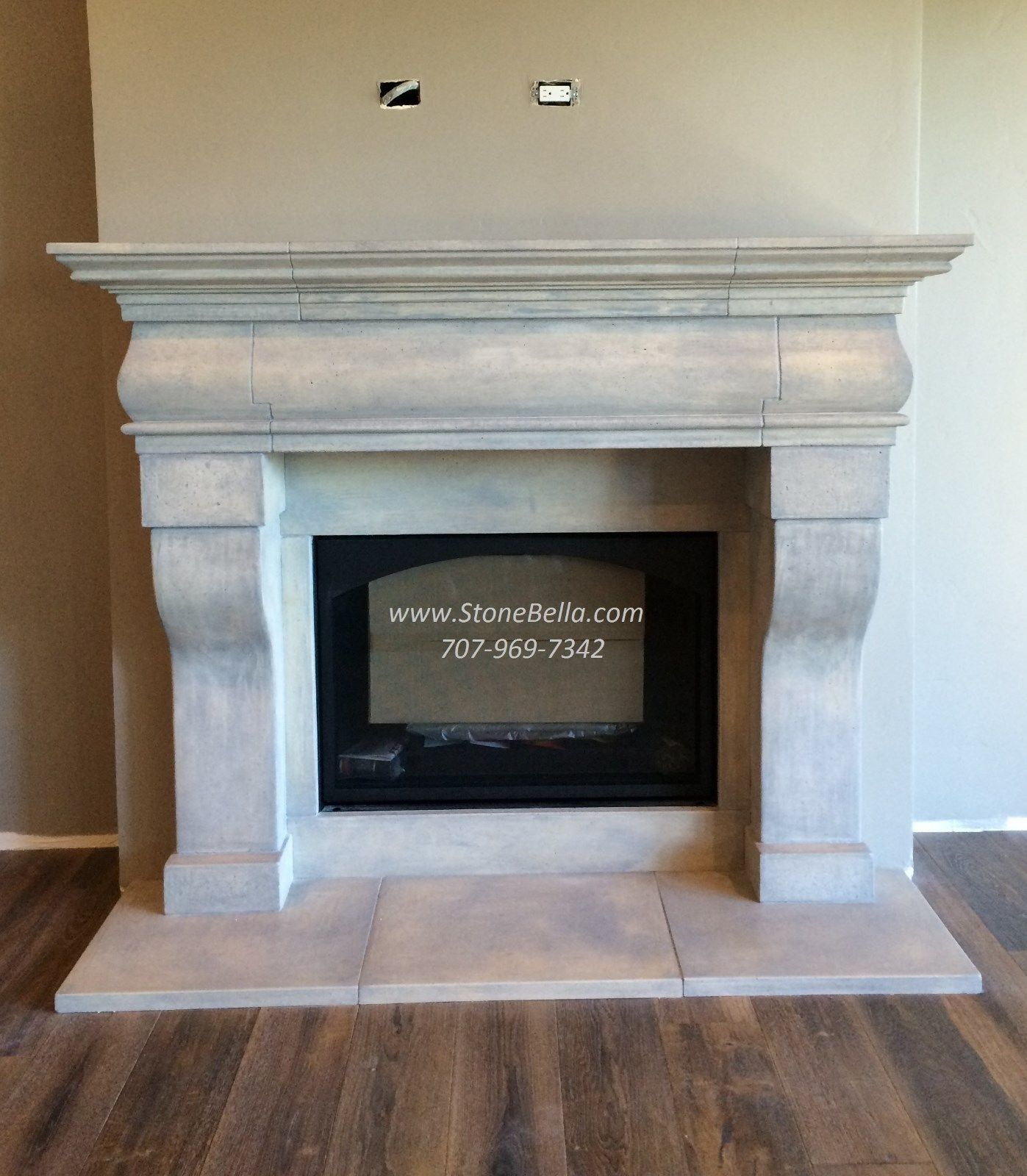 Fireplace MANTLE Surround- Cast Stone - Old World Hearth ...