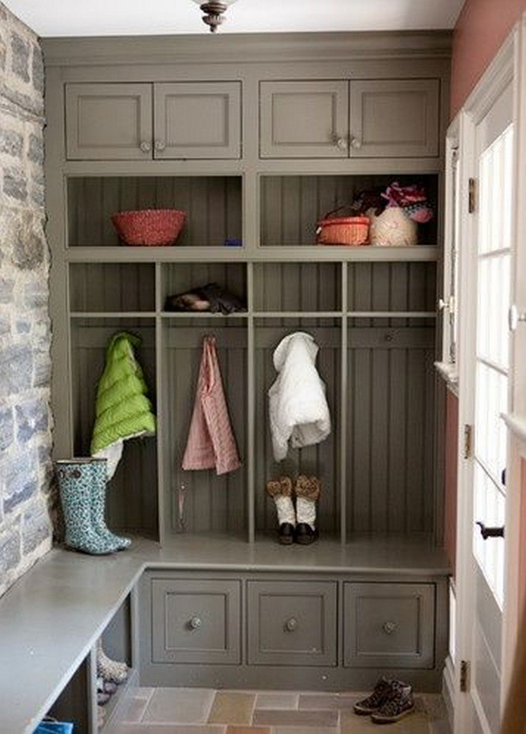 55 Utility Sink Renovation For Mudroom Farmhouse Room In 2020 Home Mudroom Design Mudroom Lockers