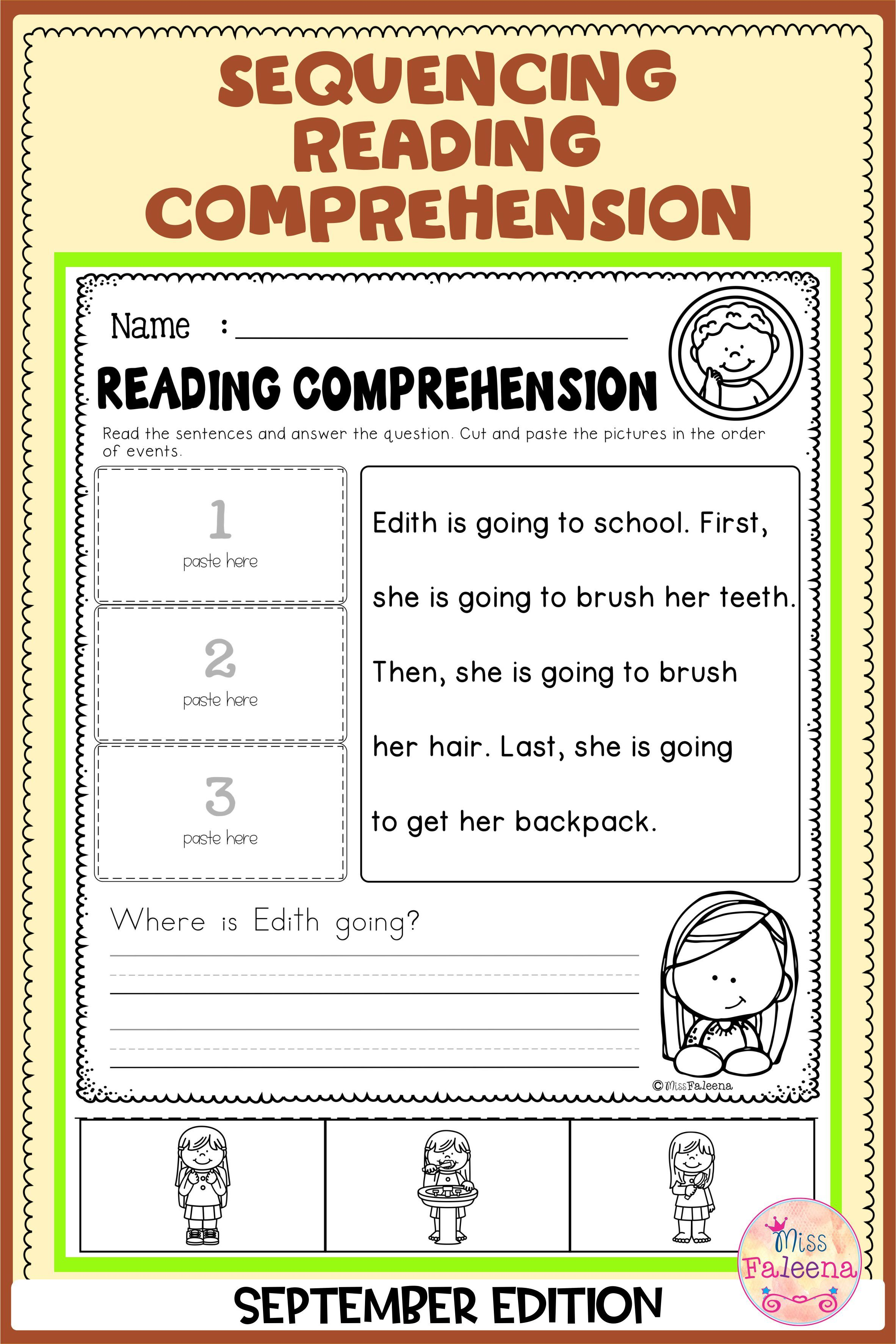 September Sequencing Reading Comprehension Di