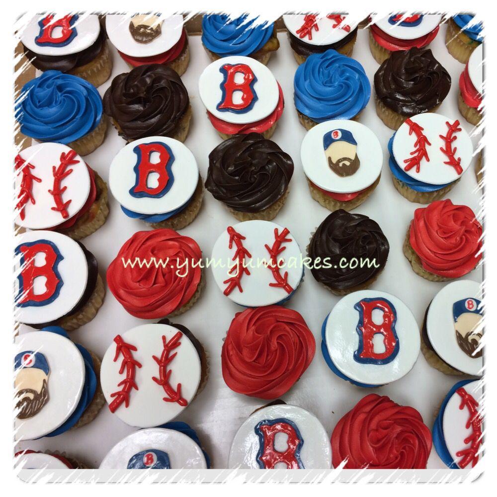 Baseball Boston Red Sox Cupcakes