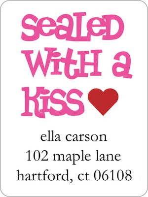 Sealed with a Kiss Address Labels
