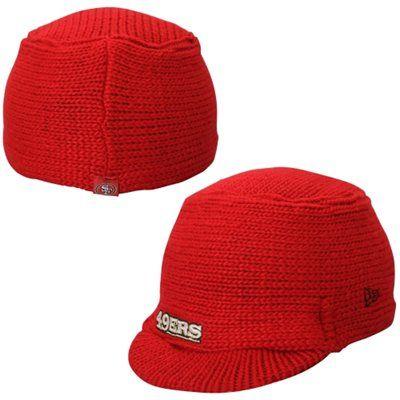 Women S San Francisco 49ers New Era Scarlet Snow Sergeant Knit Visor Hat Visor Hats Scarlet Snow 49ers Ladies
