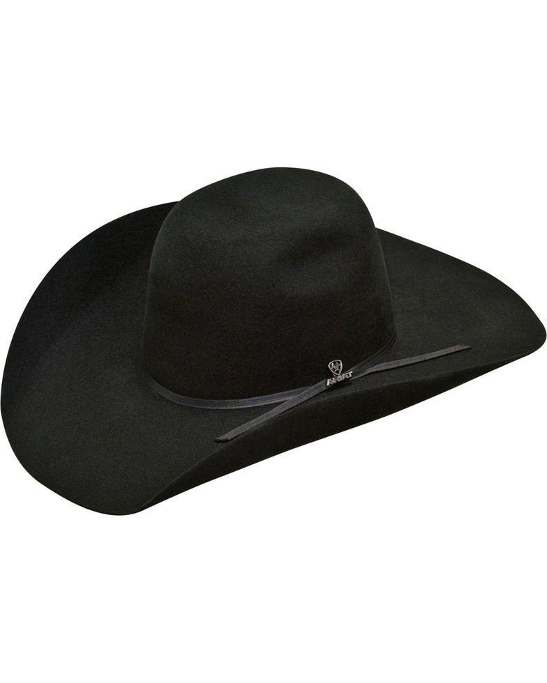 Ariat Mens 20X 2 Cord Black Band Hat