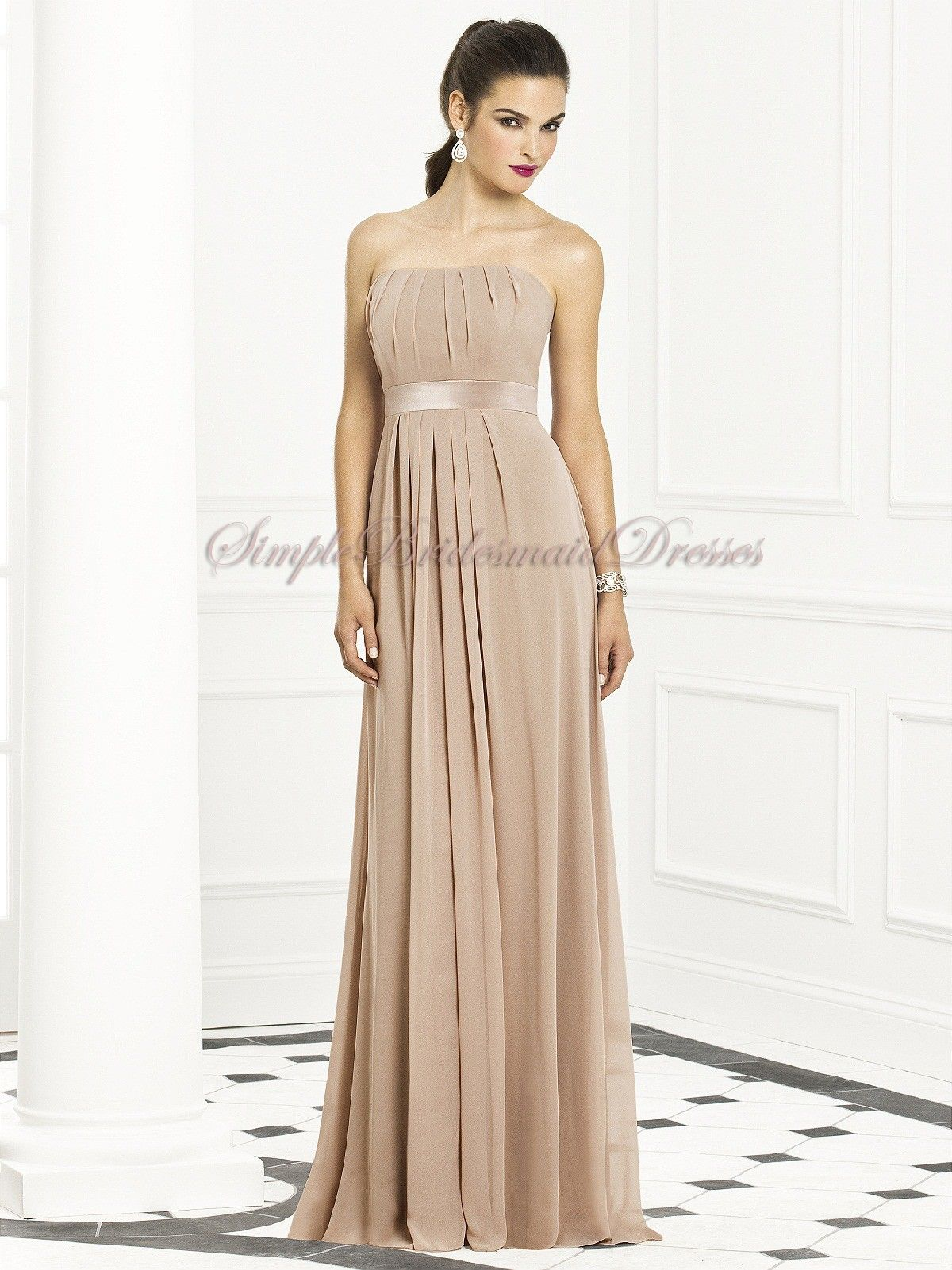 Zipper strapless empire sleeveless floor length a line drapedsash zipper strapless empire sleeveless floor length a line drapedsash topaz chiffon champagne cheap bridesmaid dressesgold ombrellifo Choice Image
