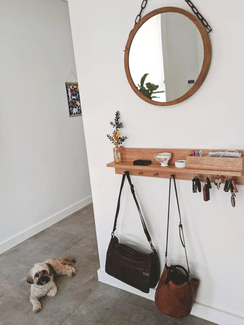 Entryway Organizer All In One 80cm Entryway Wall Organizer Etsy In 2020 Entryway Wall Decor Entryway Organizer Wall Wall Mounted Coat Rack