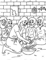 Woman Washes Jesus Feet Coloring Page Bible Luke 2014 Focus