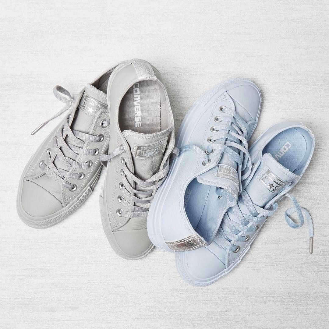 272ad9089e6f Exclusives alert ❤ Shop Converse All Star Low Leather in porpoise and ash  grey straight from our bio!  converseexclusives