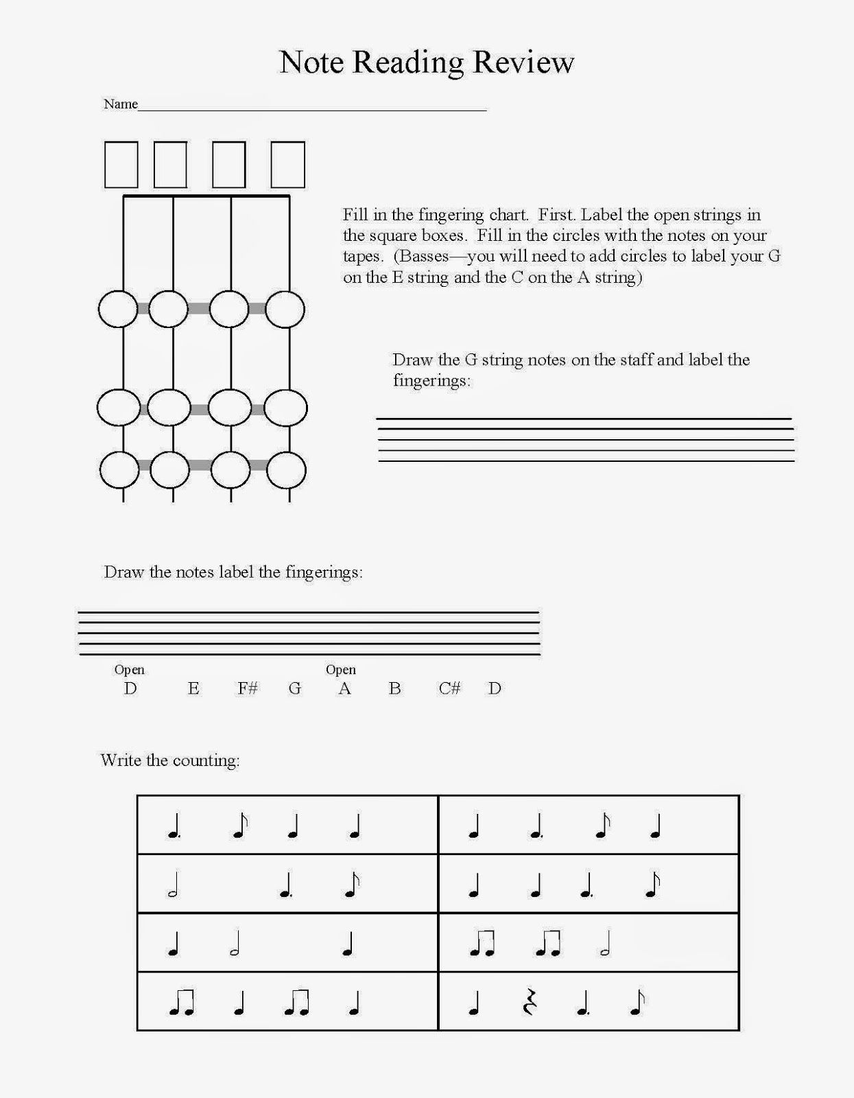 Orchestra Classroom Ideas: Mid-year Assessment for Beginning ...