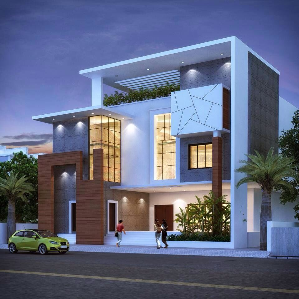 Modern Residential Exterior By Ar Sagar Morkhade: Pin By Syed Faizal On 1BHK Flat In Nagpur