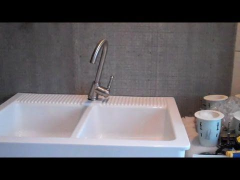How To Install An Ikea Domsjo Farmhouse Sink Youtube Sink