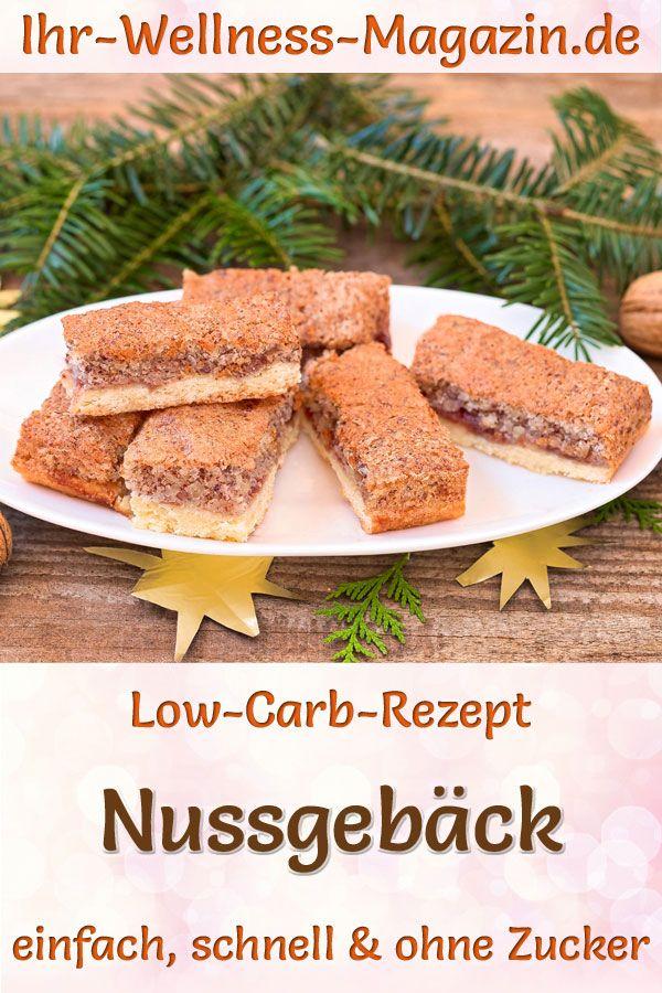 Low-Carb-Nussgebäck - Rezept für Weihnachtsgebäck ohne Zucker #tortegeburtstag