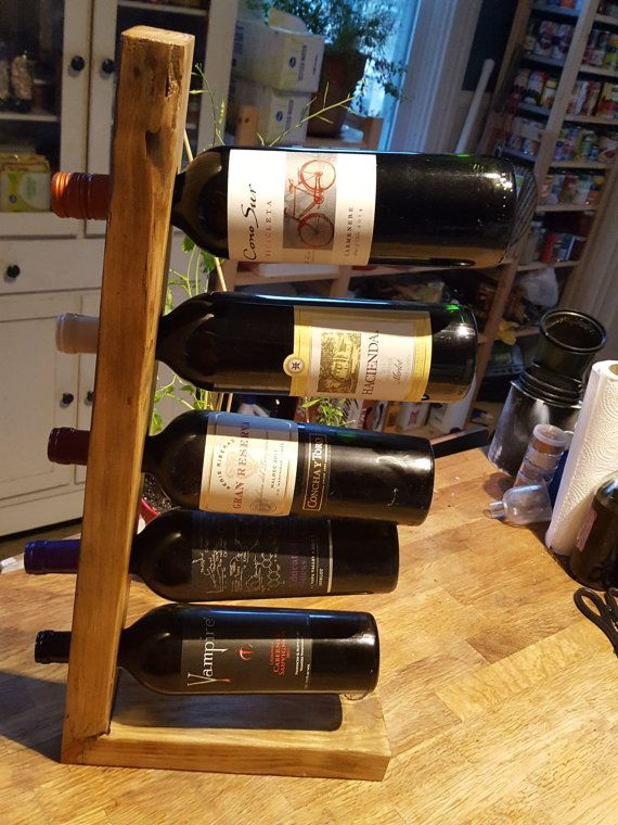 Rack Vin Bois Recyclé Porte Bouteille Vin Bois De Présentoir