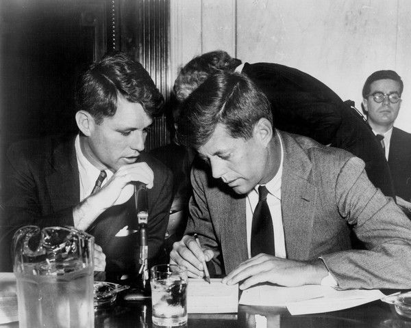 Image result for JFK and Bobby Kennedy