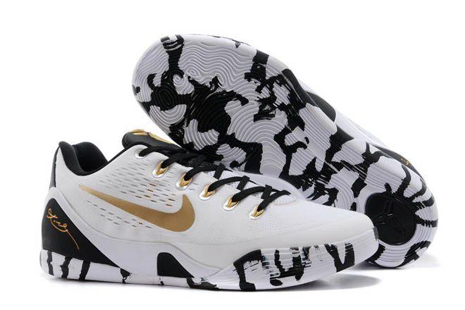 Nike Kobe 9 Low EM XDR White Black GoldHot SaleAuthentic