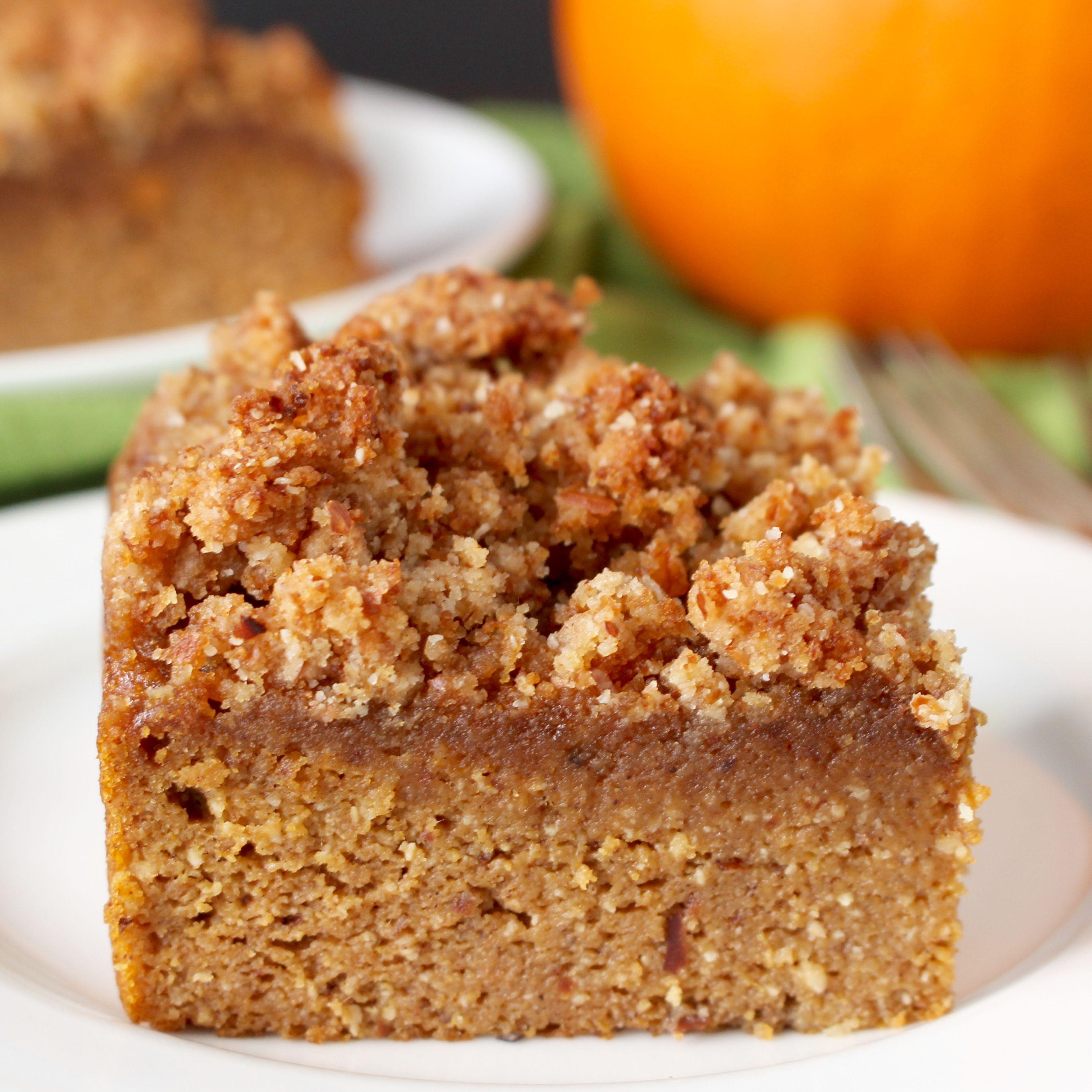 Paleo pumpkin coffee cake recipe almond flour pumpkin coffee cakes and sugar free - Coffee cake recipes ...