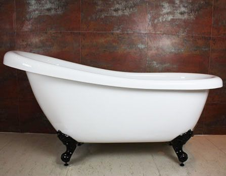Highgrove Bathrooms   LAWSON White Single High Back Clawfoot Bath (1720mm).  This Will