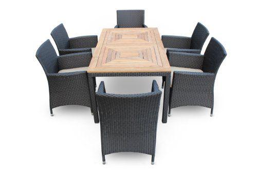 Hemera 7 piece dining set by luxus outdoor patio - Outdoor interiors 7 piece patio set ...