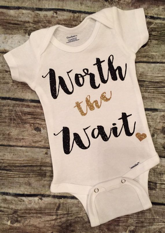 73d07360c Worth the Wait Baby Girl Onesie Worth the Wait Onesie For Baby Girls Baby  Girl Shirt Take Home Outfit