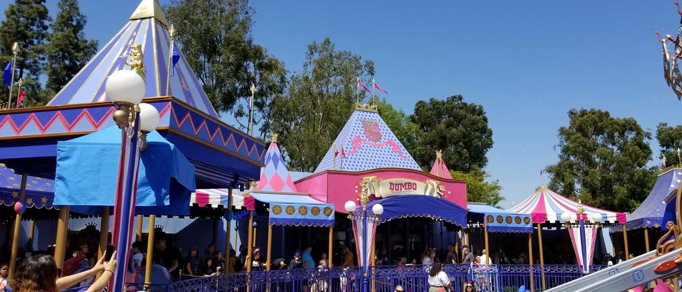 Dumbo Reopened today with a new covered queue (several ...