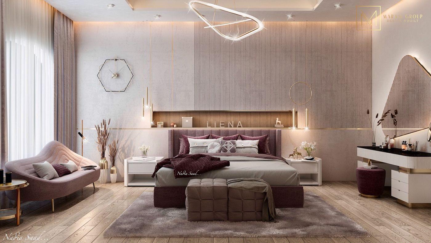 Girl Bedroom Design In Kuwait City On Behance Desain Interior Interior Dekorasi Rumah Luxury bedroom design desain