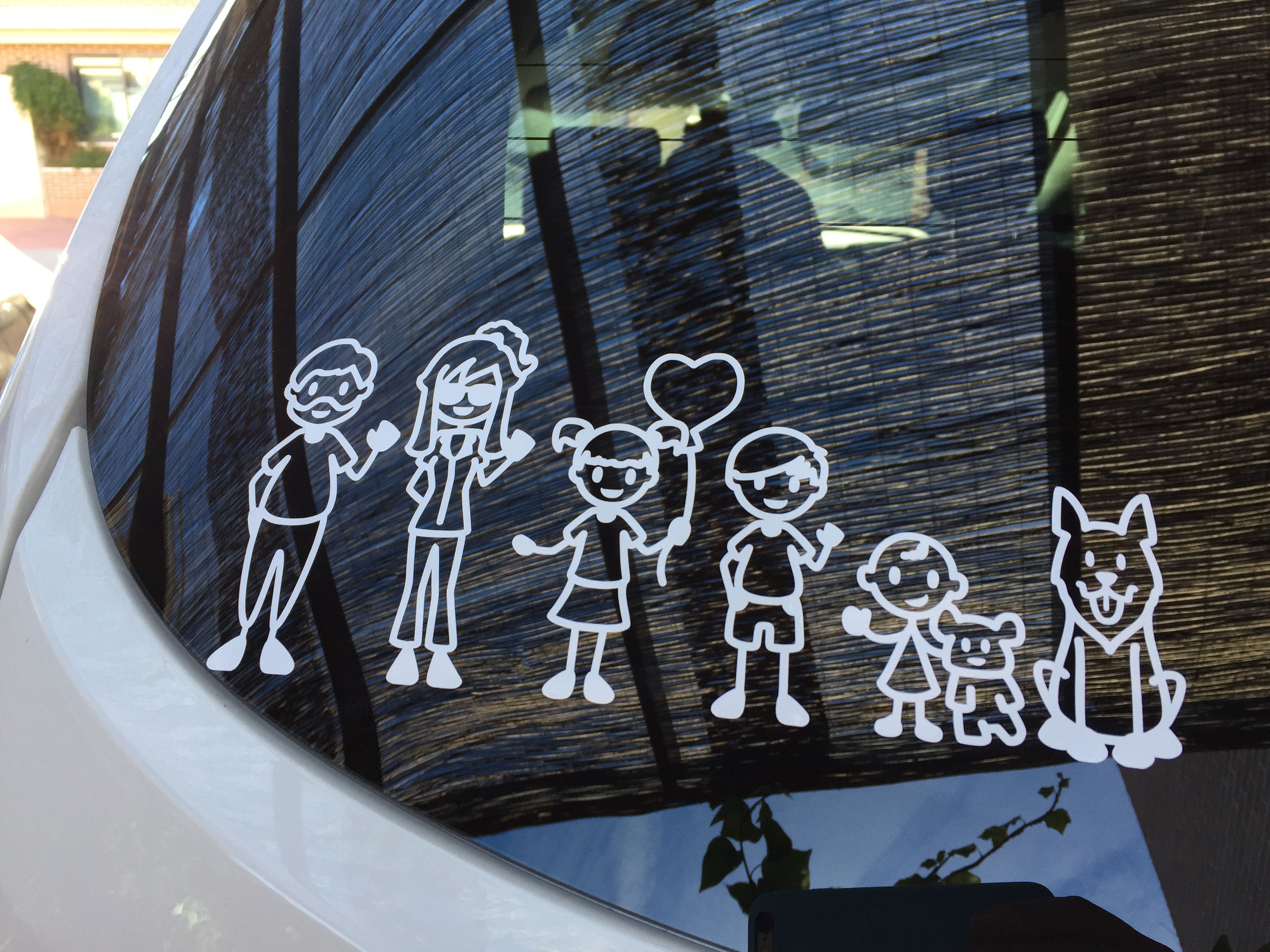 Car decals design your own - Design Your Own Unique Family Decal And Stick Out In The Traffic Familystickers