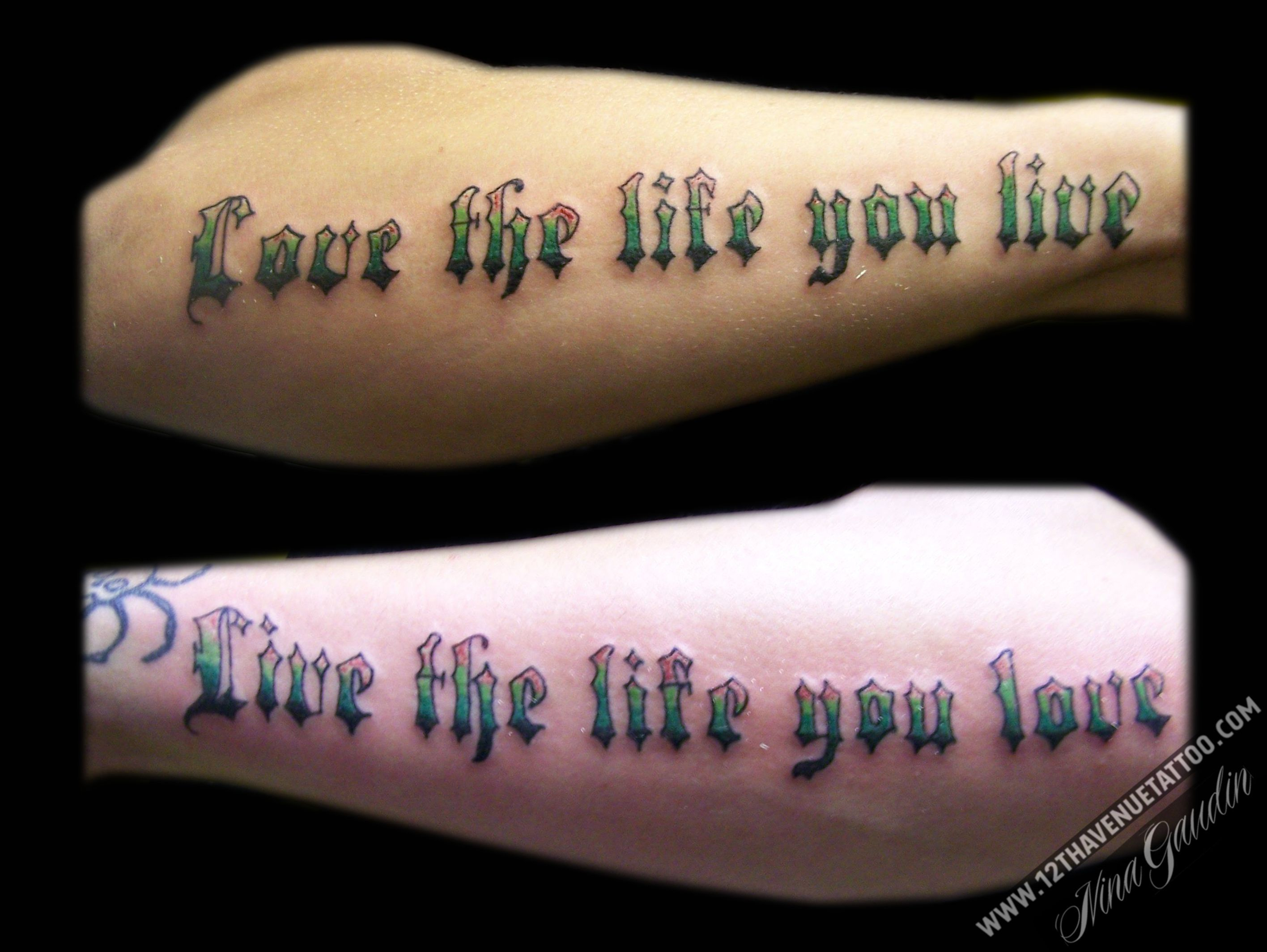 Love The Life You Live Live The Life You Love Color Words Matching