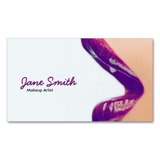 cool business cards for makeup artists business cards
