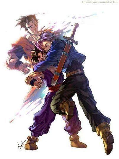 Trunks, from the future, can hug  Gohan again :') ♥