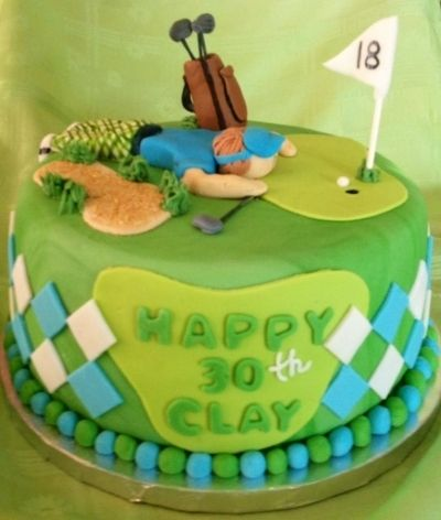 Golf Birthday Cake Kids and Baby stuff Pinterest Birthday