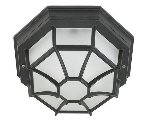 Plafoniera da esterno in acciaio verniciato milano colore nero