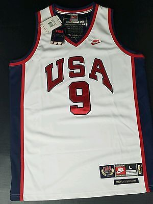 Michael Jordan Nike Team USA 1984 La Olympics  9 Basketball Jersey Mint  With Tag 01bf68226