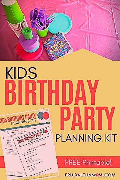 Photo of Kids Birthday Party Planning Kit | Frugal Fun Mom