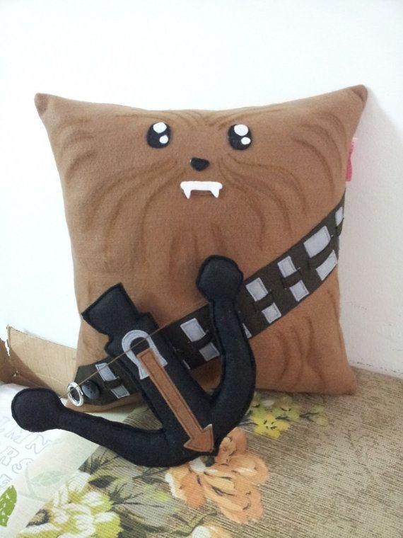 Handmade Chewbacca Star Wars Pillow Cushion Throw Pillow Plush