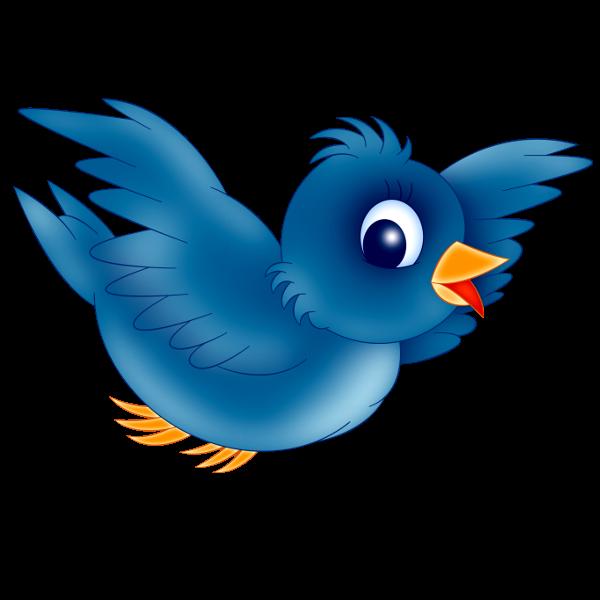 Blue Bird Clipart Image 11 Png 600 600 Cartoon Birds Blue Bird Cartoon Clip Art