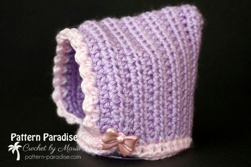 Lovely Crochet Baby Bonnets #bonnets