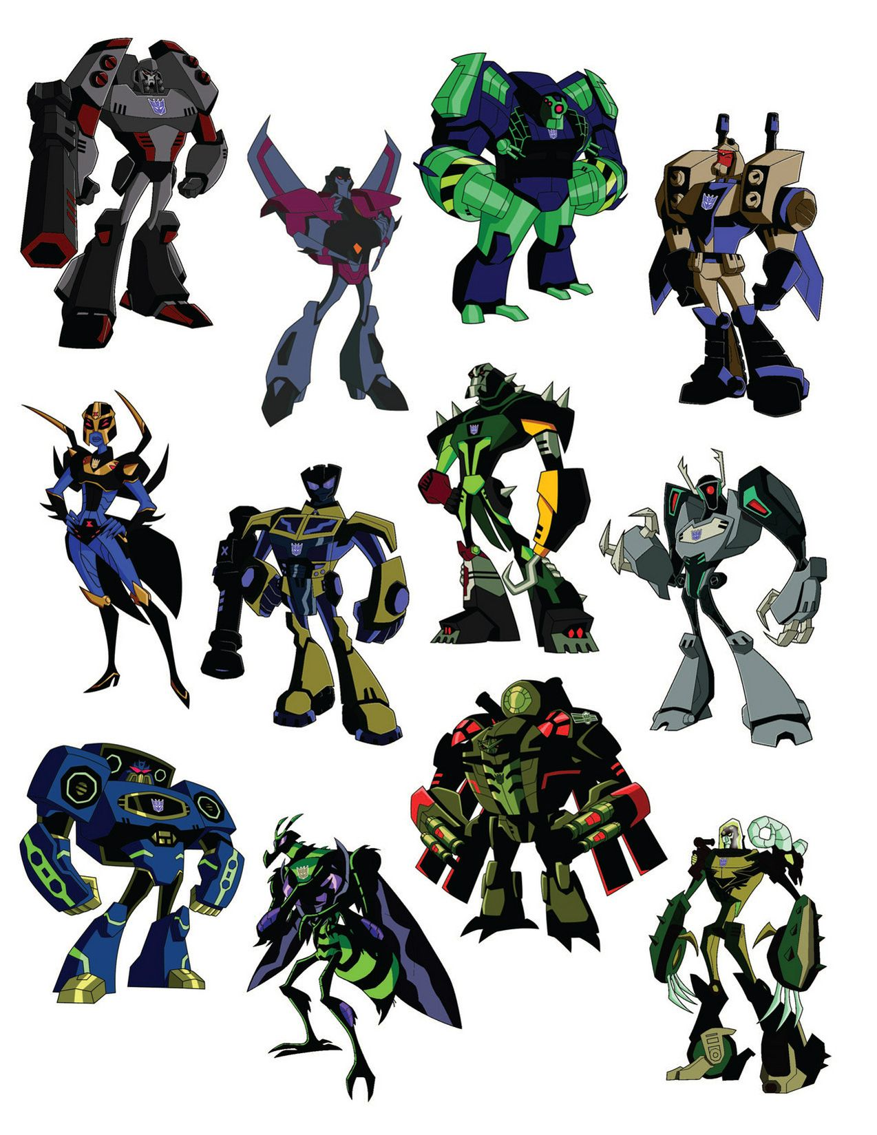 transformers animated decepticons from quottransformers