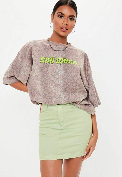 299b205bb1 Missguided Petite Mint Super Stretch Denim Mini Skirt in 2019 ...