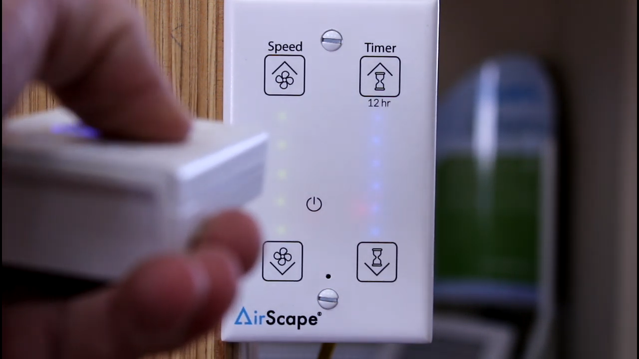 New Airscape Wall Mounter Controller In Operation Video House Fan Whole House Fans Whole House Fan