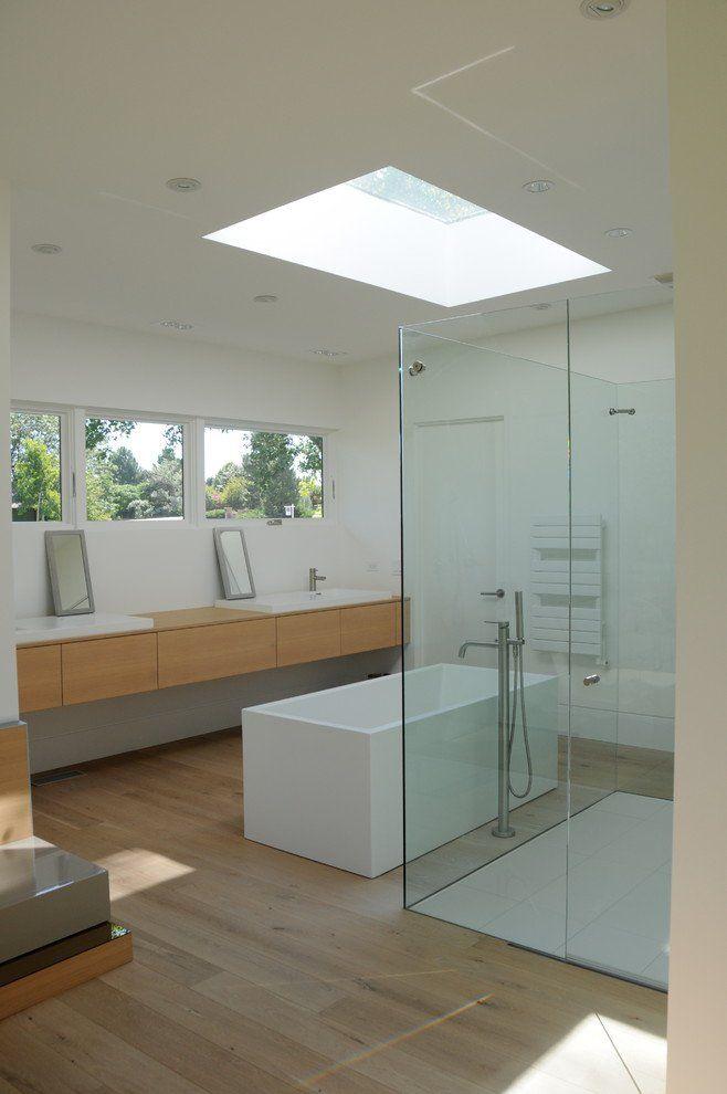 15 Incredibly Modern Mid Century Bathroom Interior Designs Clerestory Right Above Sink No