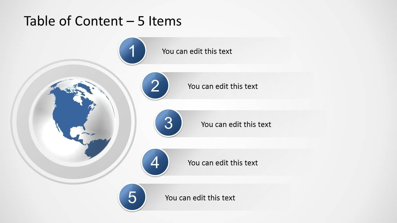 Table Of Content Slides For Powerpoint Slidemodel Table of contents template powerpoint