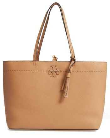 0d1e1720bd54 Tory Burch Mcgraw Leather Tote - Beige affilink
