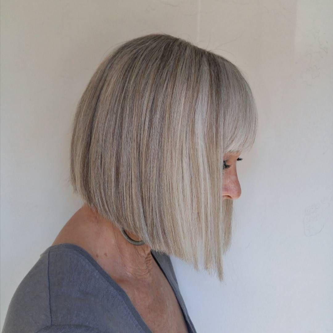 Blunt Bob Hair Styles Gorgeous Gray Hair Hair