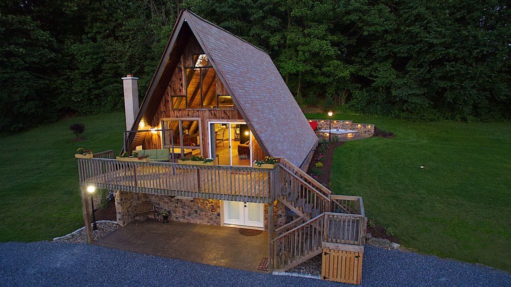 Fantastic A Frame Cabin For A Couples Getaway Near Robesonia