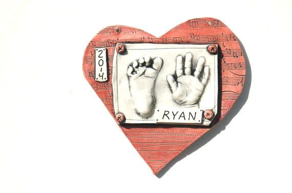 Personalized ceramic art print of your baby by thebabyhandprintco personalized ceramic art print of your baby hand and footprint keepsake gift for mom and dad baby gift personalized baby gift negle Gallery